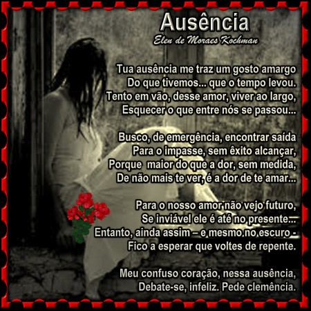 AUSENCIA- elen de Moraes kochman